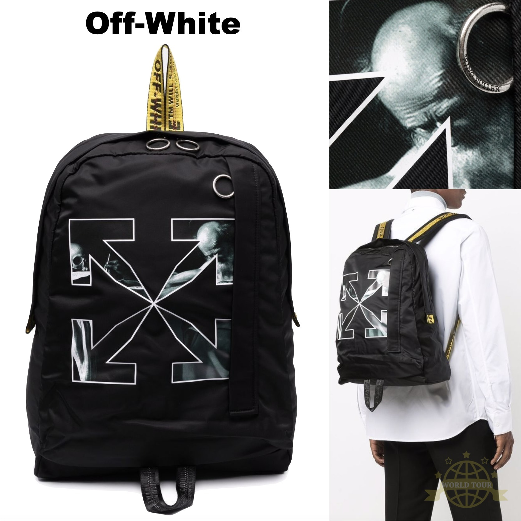 OFF WHITE INDUSTRIAL CARAVAGGIO ナイロン バックパック 関税込 (Off-White/バックパック・リュック) 72169943
