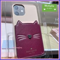 【kate spade】新作★猫ちゃんポケット付♪iPhone 12 各種対応★