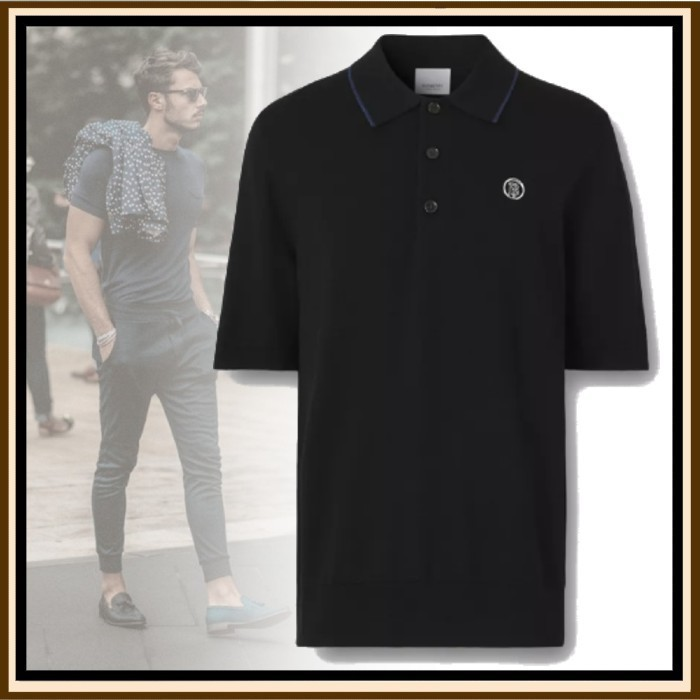 21AW◆LXストリート◆BURBERRY◆Wool Silk Cashmere Polo Shirt (Burberry London/ポロシャツ) 72194384