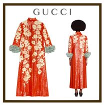 【GUCCI】Poppy sequin embroidery dress