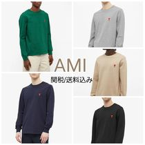 BTS愛用 ●AMI● 長袖 Tシャツ ロゴ ハート 送料/関税込み