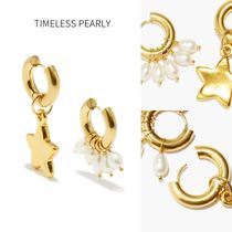 TIMELESS PEARLY パール 24KGプレーテッドミスマッチピアス