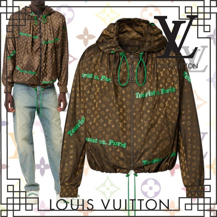 2021AW 新作 LouisVuitton ウインドブレーカー ロゴ モノグラム (Louis Vuitton/アウターその他) 1A97A4