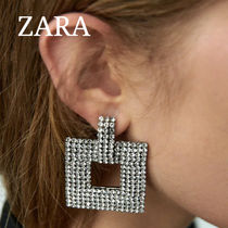 ZARA【NEW】SPARKLY SQUARE EARRINGS