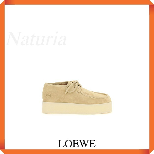 Loewe Wedge Lace Up In Suede (LOEWE/靴・ブーツ・サンダルその他) M816284X06 8130