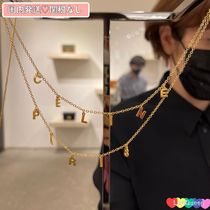 CELINE★国内発送★CELINE PARIS ダブルネックレス GOLD