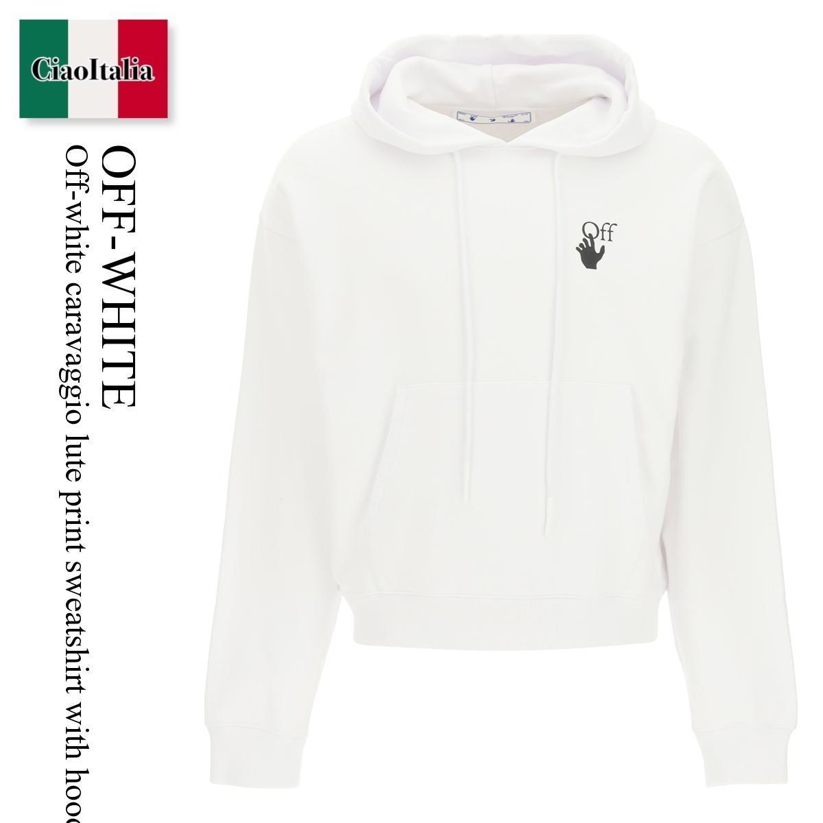 Off-white caravaggio lute print sweatshirt with hoodie (Off-White/パーカー・フーディ) OFF-WHITE CARAVAGGIO LUTE PRINT SWEATSHI  OMBB037F21FLE009  OMBB037F21FLE009 0184