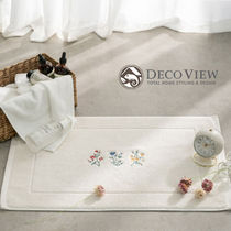 ★DECO VIEW★送料込み★Retro flower embroidered towel mat