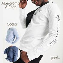 Abercrombie & Fitch(アバクロ) Tシャツ・カットソー Abercrombie & Fitch 袖ロゴ 長袖 Tシャツ 送関込