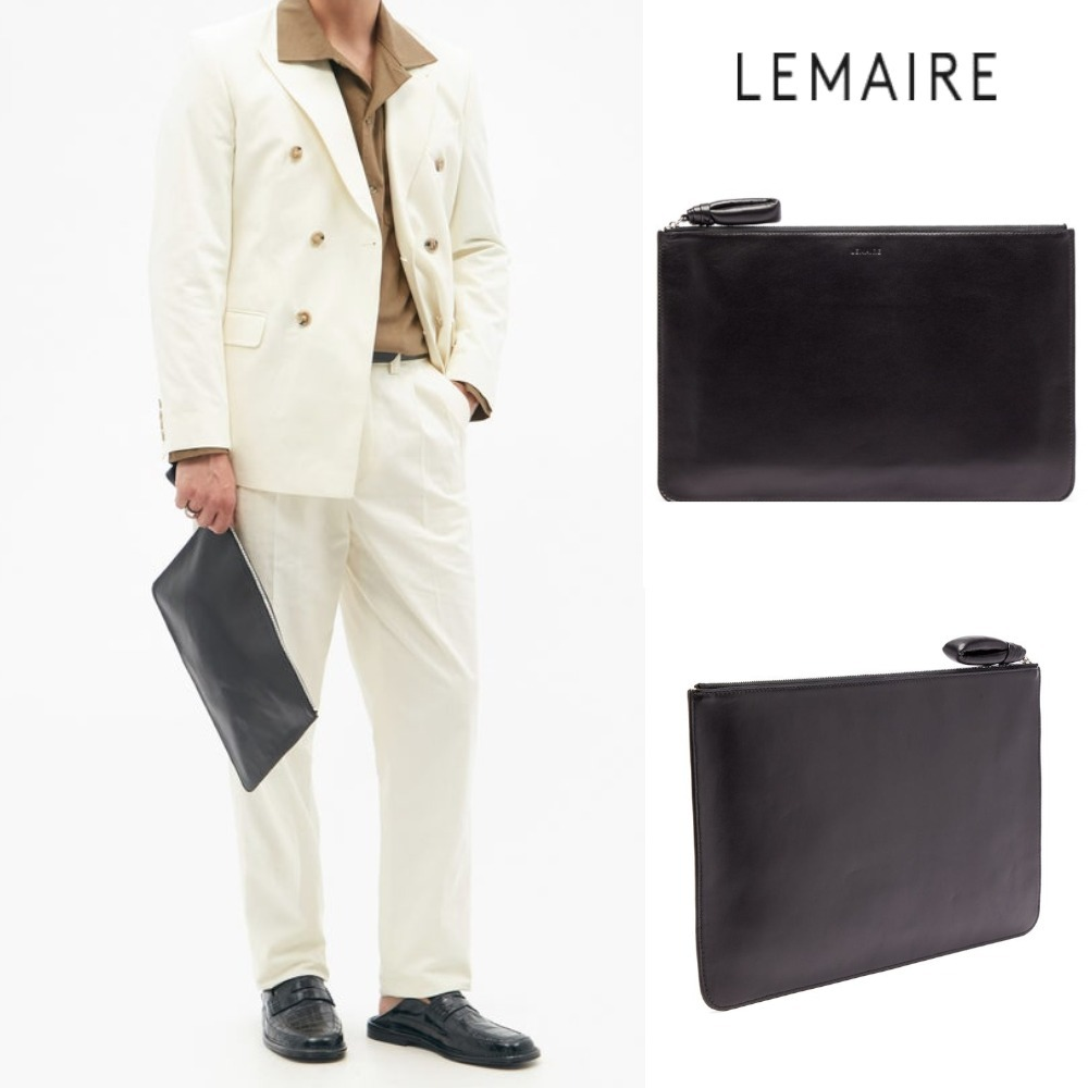 LEMAIRE ロゴ レザーポーチ 関税送料込 (LEMAIRE/クラッチバッグ) 72342626