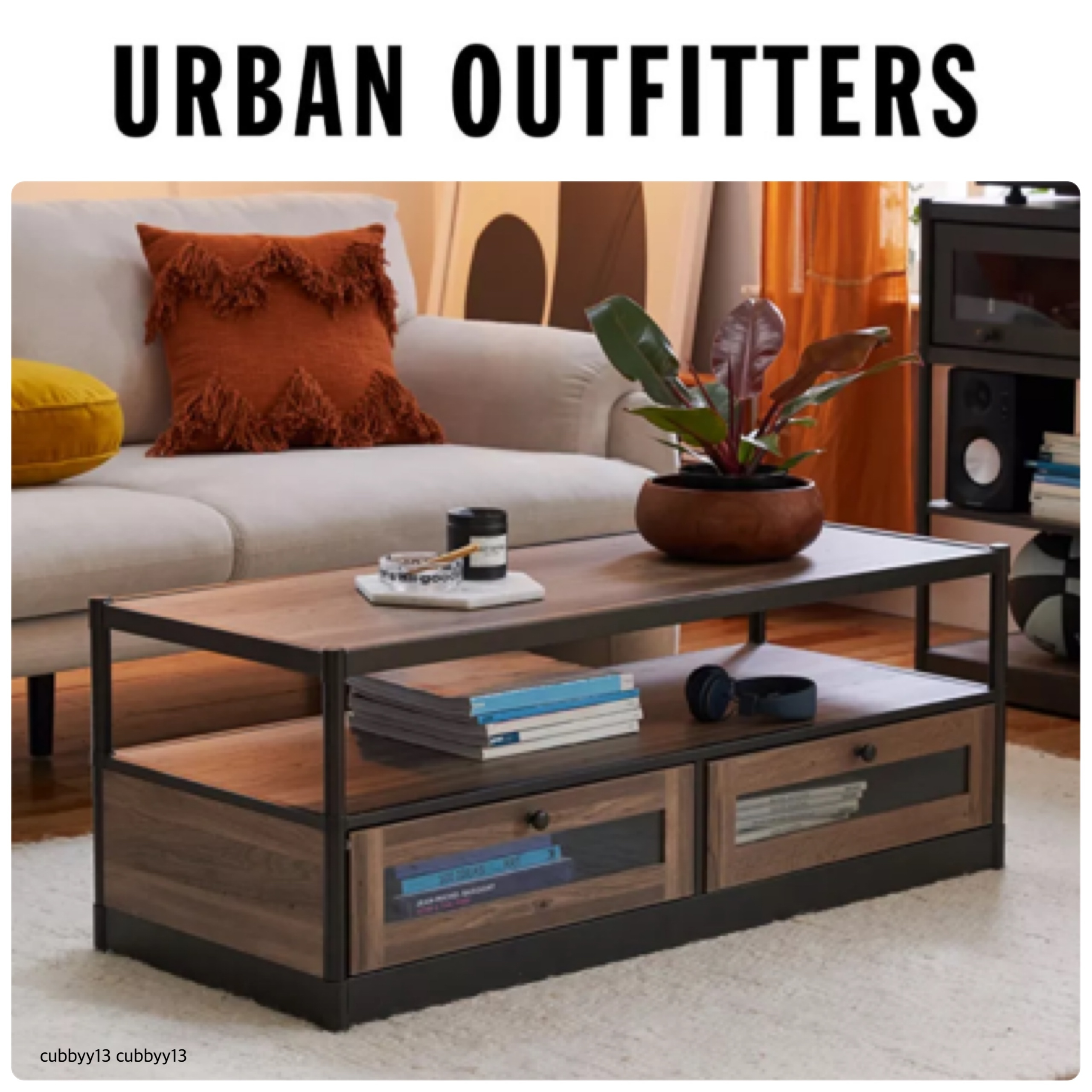 Urban Outfitters ヴォーン コーヒーテーブル 収納付き☆ (Urban Outfitters/机・テーブル) 72348121