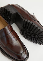 """""""& Other Stories""""新作☆Heeled Leather Penny Loafers(brown)"""