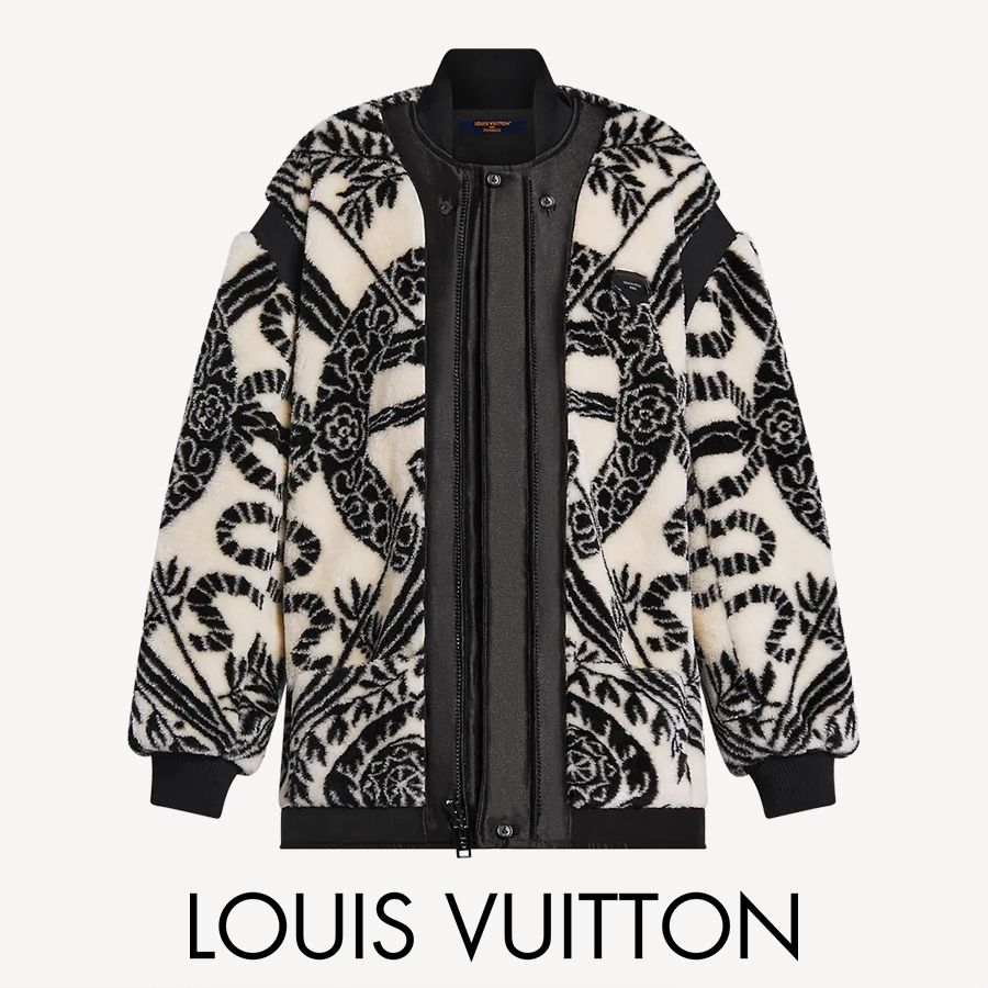 【LOUIS VUITTON】ボウジャカードフリースジャケット (Louis Vuitton/ジャケット) 1A9BXK  1A9BYM  1A9BYN