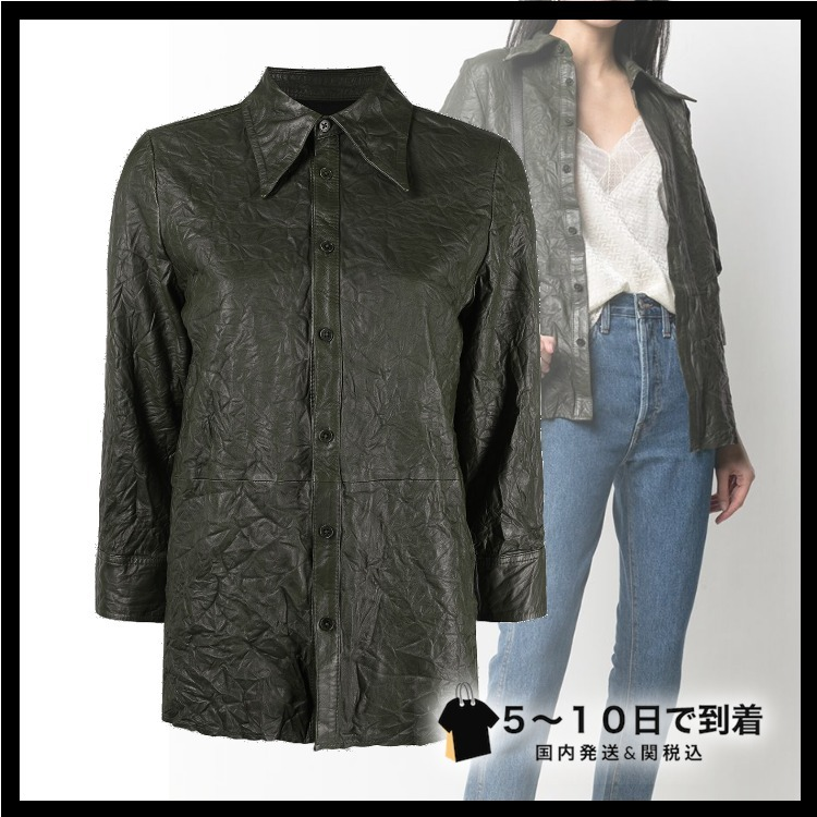 ☆sale☆Tris Cuir Froisse レザーシャツ (ZADIG & VOLTAIRE/ブラウス・シャツ) 72379329
