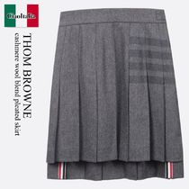 THOM BROWNE(トムブラウン) ミニスカート Thom Browne cashmere wool blend pleated skirt