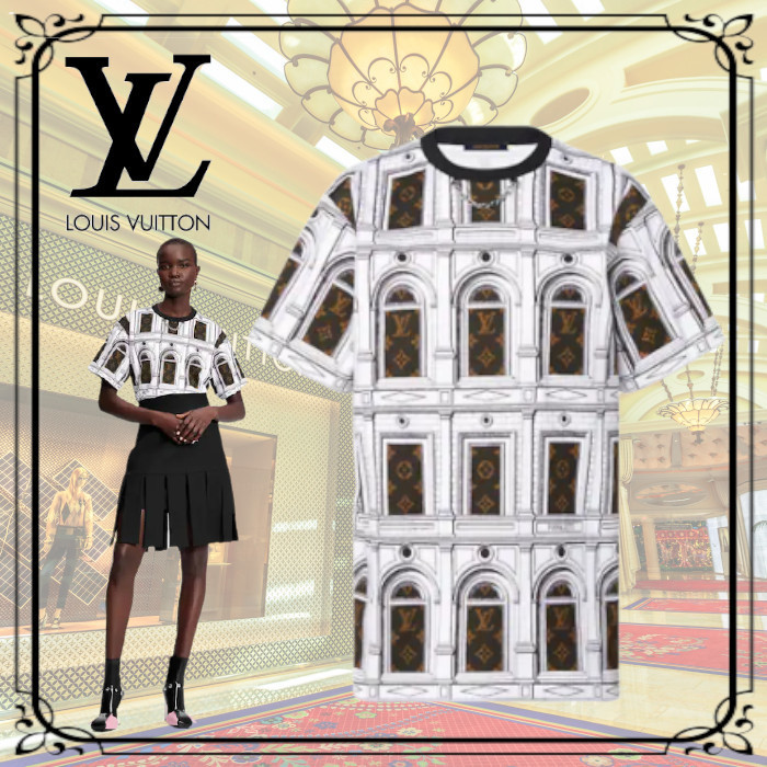 2021AW Louis Vuitton モノグラム アーキテクチャTシャツ 半袖 (Louis Vuitton/Tシャツ・カットソー) 1A9BH4