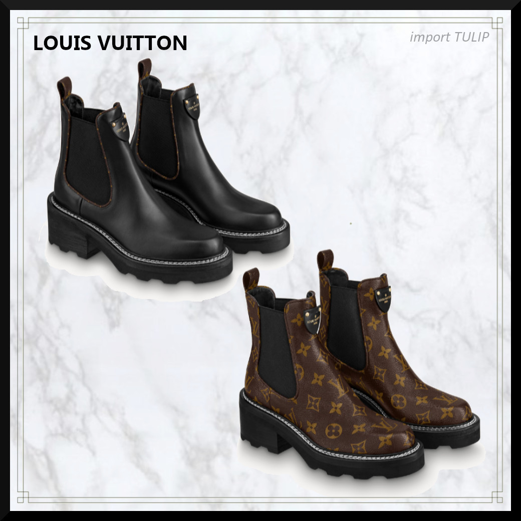 ◆NEW IN◆ LOUIS VUITTON モノグラム アンクルブーツ (Louis Vuitton/ショートブーツ・ブーティ) 1A8949  1A8QCP
