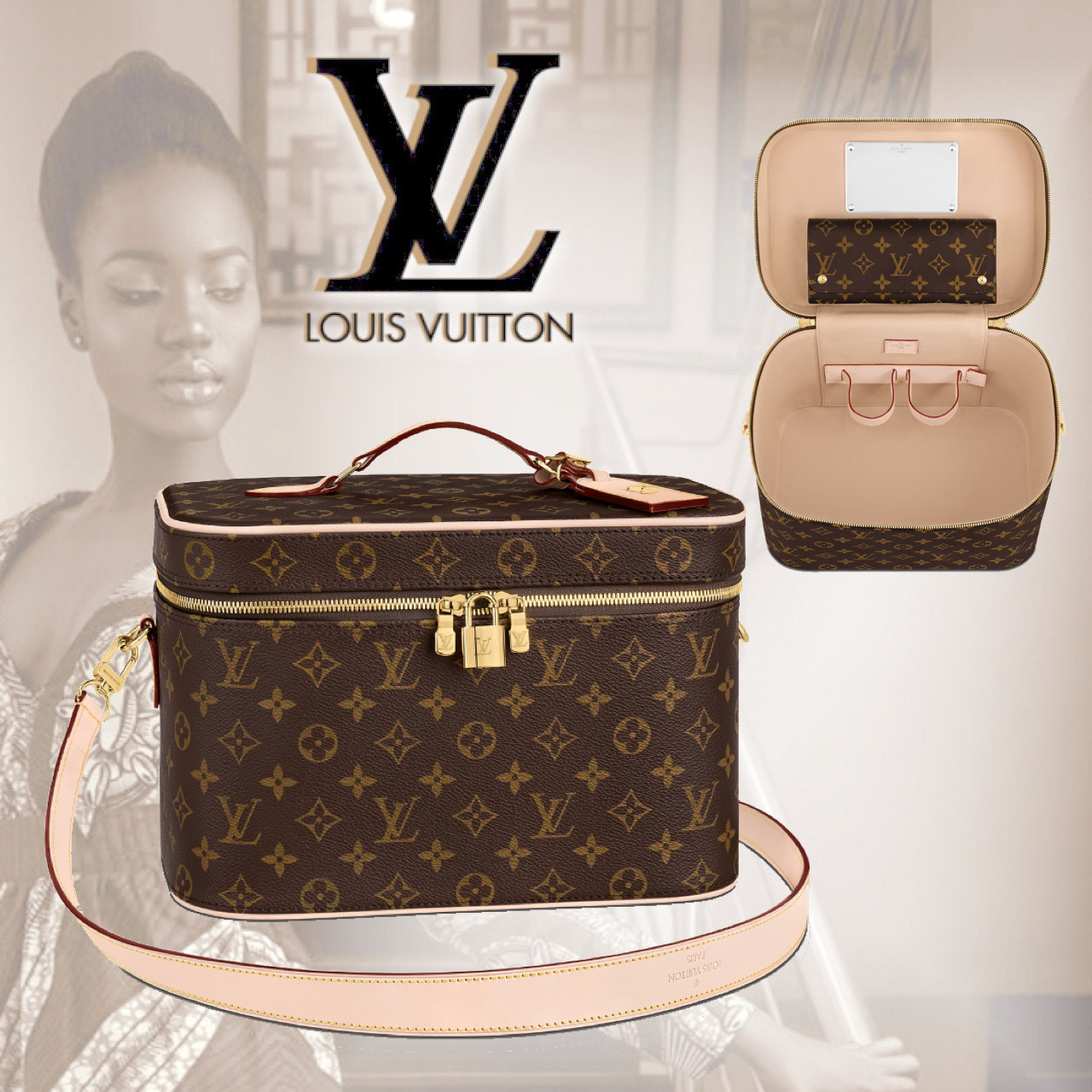Louis Vuitton モノグラム バッグ コスメ ケース M44935 (Louis Vuitton/財布・小物その他) M44935