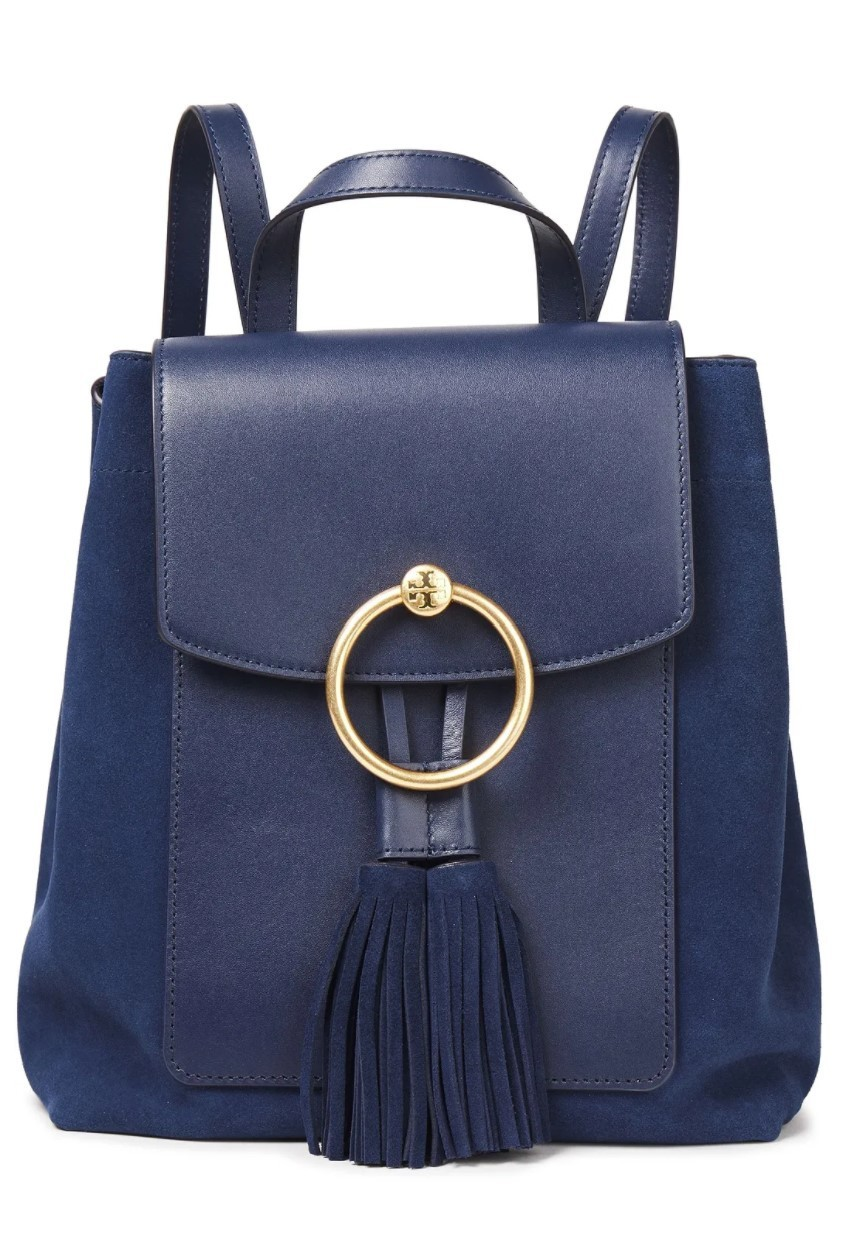 Tory Burch★Tasseled suede and leather backpack (Tory Burch/バックパック・リュック) 72414527