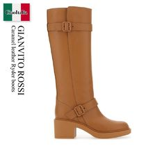 Gianvito Rossi Caramel leather Ryder boots