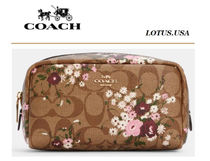 """Coach(コーチ) メイクポーチ """" COACH"""" Evergreen Floral Print コスメポーチ"""