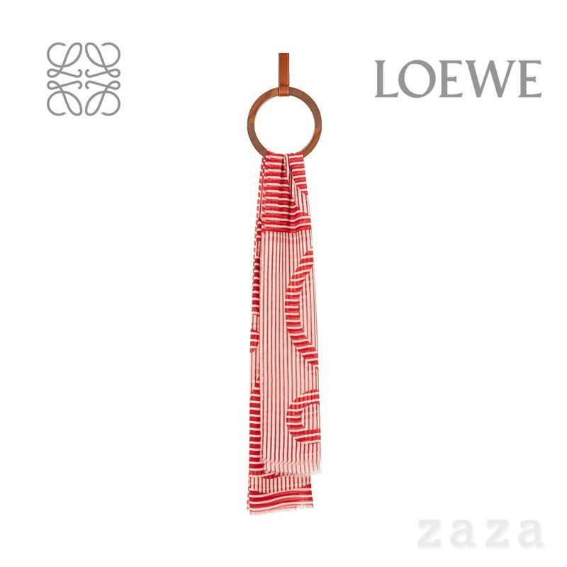 LOEWE★ロエベ Anagram stole in modal and linen (LOEWE/スカーフ) 72426471