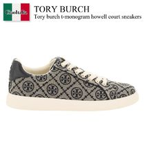 Tory burch t-monogram howell court sneakers