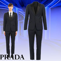 PRADA 直営店 Singled-breasted two-button wool mohair tuxedo