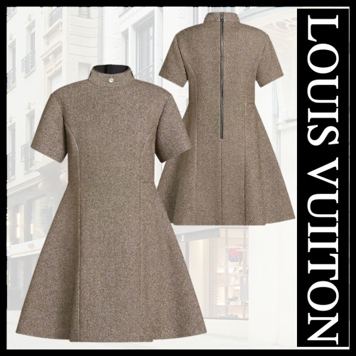 21FW直営LV★スタッドディテールルレックスAラインドレス (Louis Vuitton/ワンピース) 1A9AS0 1A9AS1 1A9AS2   1A9AS3 1A9AS4