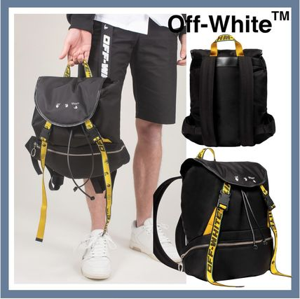 《OFF-WHITE》 ロゴ ナイロン バックパック