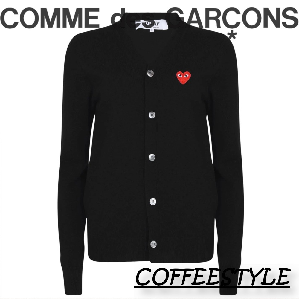 COMME DES GARCONS PLAY ハートVネックカーディガン (COMME des GARCONS/カーディガン) 72493957