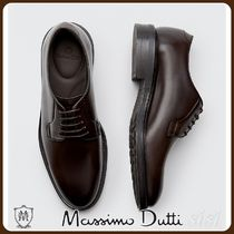 MassimoDutti♪BROWN LEATHER DERBY SHOES