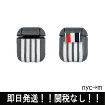 THOM BROWNE(トムブラウン) その他 即納 thom browne トムブラウン PEBBLEGRAINLEATHER AirPodscase