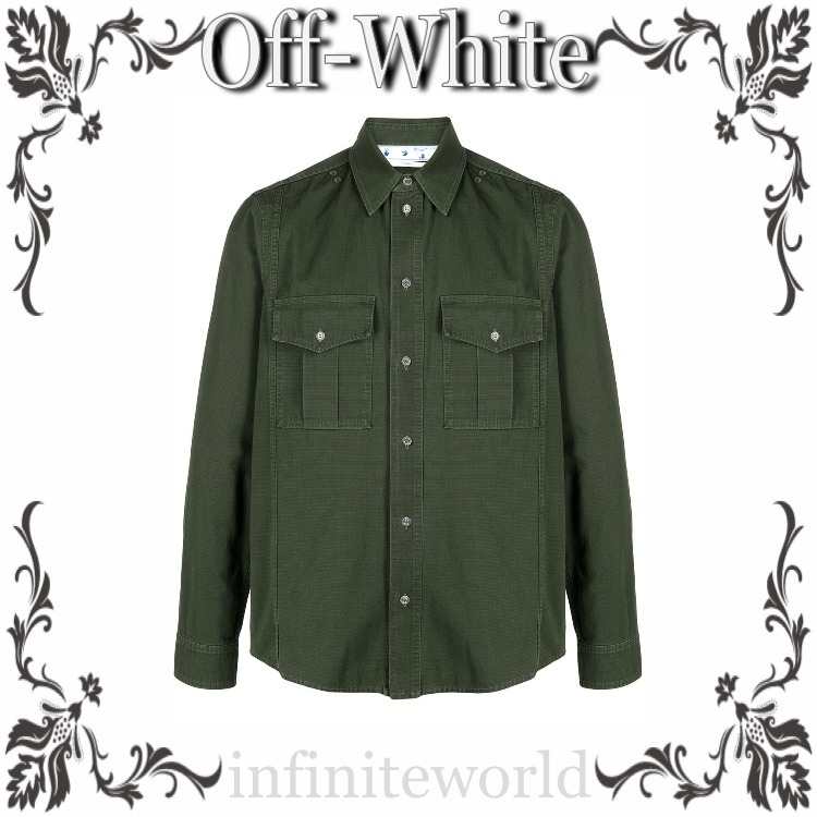Off-White◆ロングスリーブ シャツ (Off-White/Tシャツ・カットソー) OMGA169S21FAB0025710