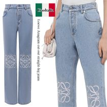 Loewe Anagram cut-out straight-leg jeans
