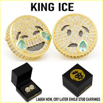 【King Ice】LAUGH NOW, CRY LATER EMOJI STUD EARRINGS ピアス