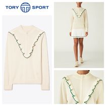 【TORY SPORT】●日本未入荷●LUXE CASHMERE RUFFLE PULLOVER