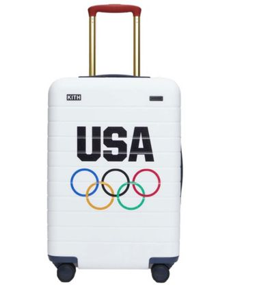 Kith for Team USA & Away PC Bigger Carry-on Luggage White