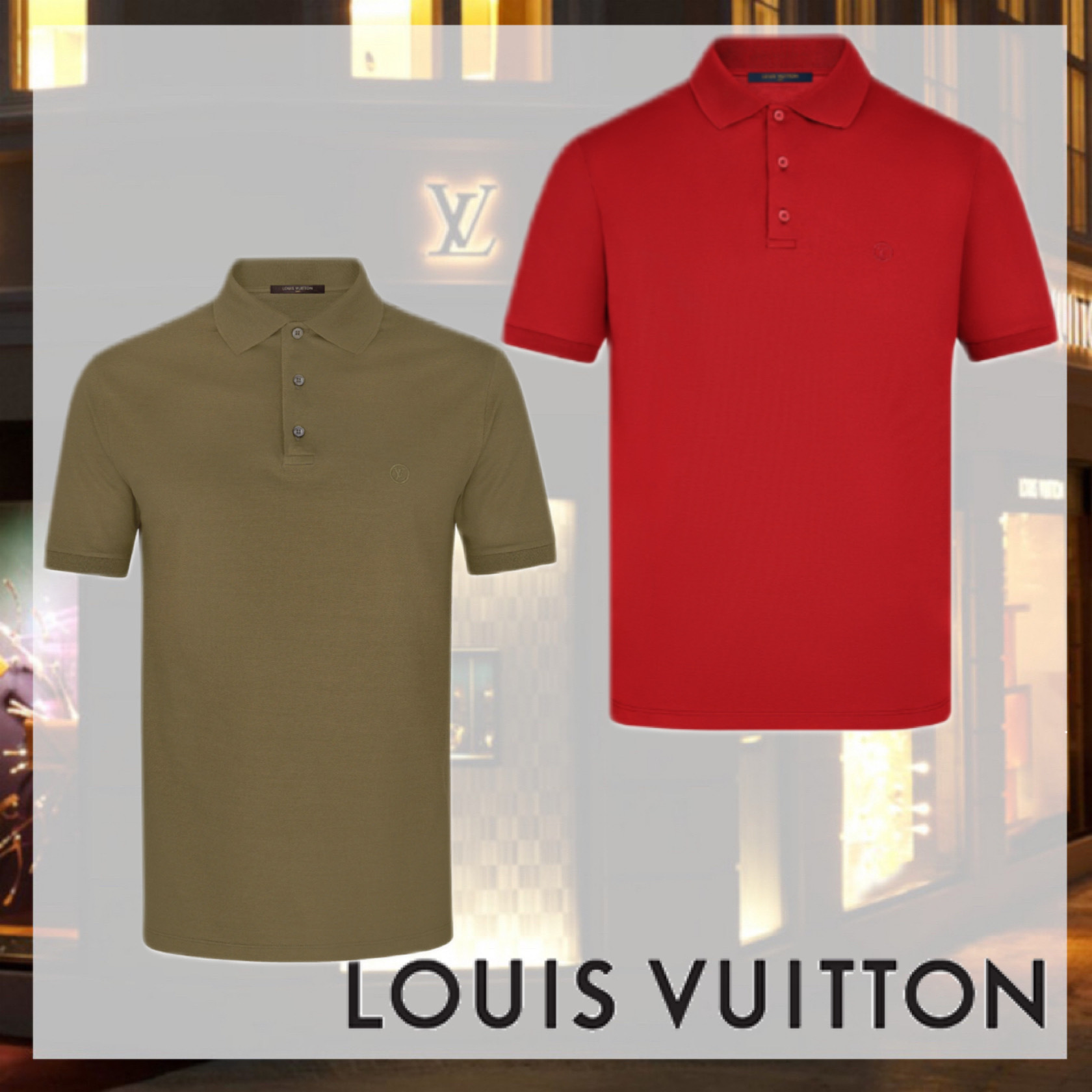 AW新作 大人気 LOUISVUITTON クラシック半袖ピケポロシャツ (Louis Vuitton/ポロシャツ) 1A1VGH  1A2IJZ