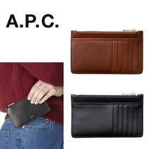 A.P.C.(アーペーセー) カードケース・名刺入れ A.P.C. カーフスキン フラグメントケース Willow
