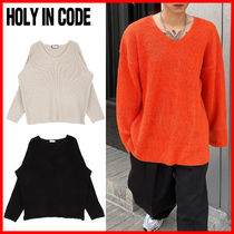 HOLY IN CODE(ホーリーインコード)★Hachi V Neck Over Knit