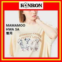 [RONRON] OVER FIT PUPPY T-SHIRT BEIGE/兼用/追跡付