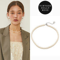★BLACKPINK着用★VINTAGE HOLLYWOOD★Classic Pearl Necklace