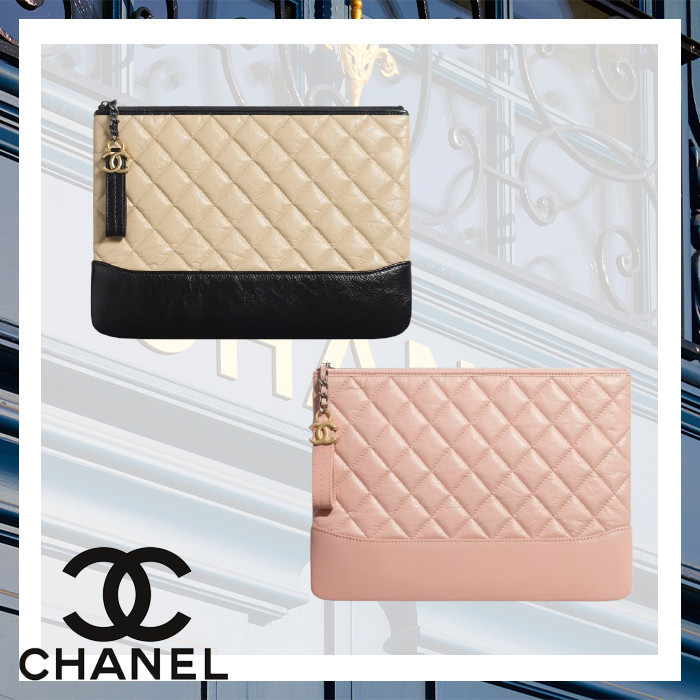 CHANEL ポーチ エイジド カーフスキン&スムーズ カーフスキン (CHANEL/ポーチ) A84287 Y61477 N0430  A84287 Y61477 C0204