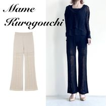 Mame Kurogouchi◇Traditional Curtain Lace Knitted Trousers