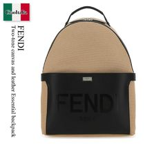 FENDI(フェンディ) バックパック・リュック Fendi Two-tone canvas and leather Essential backpack