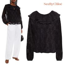 ☆See By Chloe ☆ ラッフル付き レース トップス ♪SALE