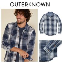 Outer known(アウターノウン) シャツ 【Outer known】大人気!BLANKET シャツ−Blue Bigbury Plaid
