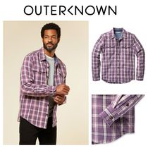 【Outer known】大人気!BLANKET シャツ−Berry Paseo Plaid