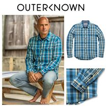 Outer known(アウターノウン) シャツ 【Outer known】大人気!BLANKET シャツ−Blue Wave Ventana